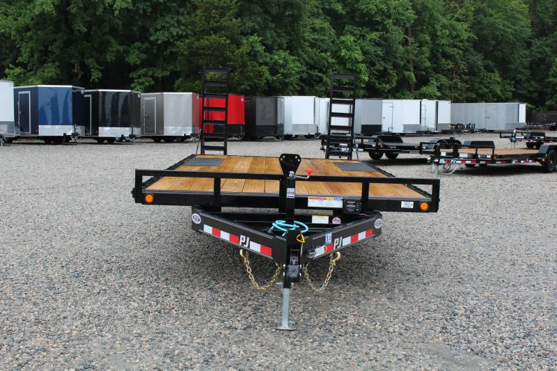 2020 PJ Trailers 20ft L6 10K Deckover w/ Fold Up Ramps