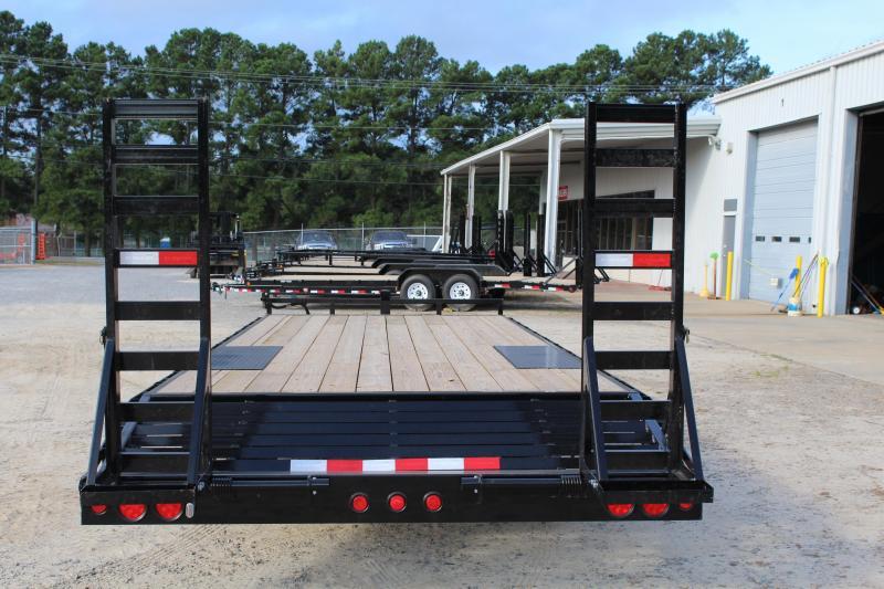 2019 PJ Trailers 22ft L6 10K Equipment Trailer w/ Fold-up Ramps