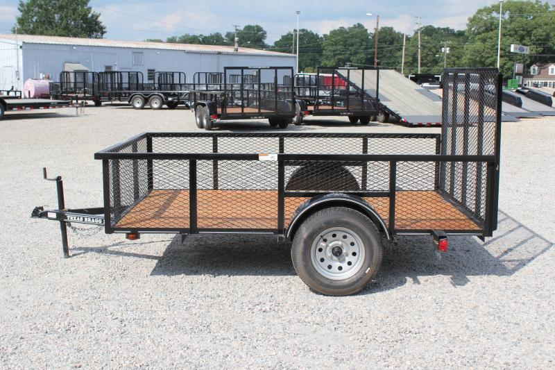 2018 Texas Bragg 6x10LD w/ 2ft Expanded Sides & Gate