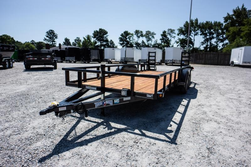 2019 Texas Bragg Trailers 18P w/ Fold Up Ramps