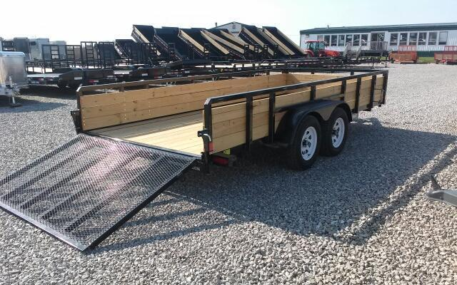 2019 Sure-Trac 7x16 7K 3-Board Utility Trailer