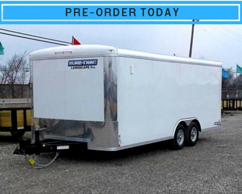2019 20' 10K Sure-Trac Round Top Landscape Pro Enclosed Cargo Trailer