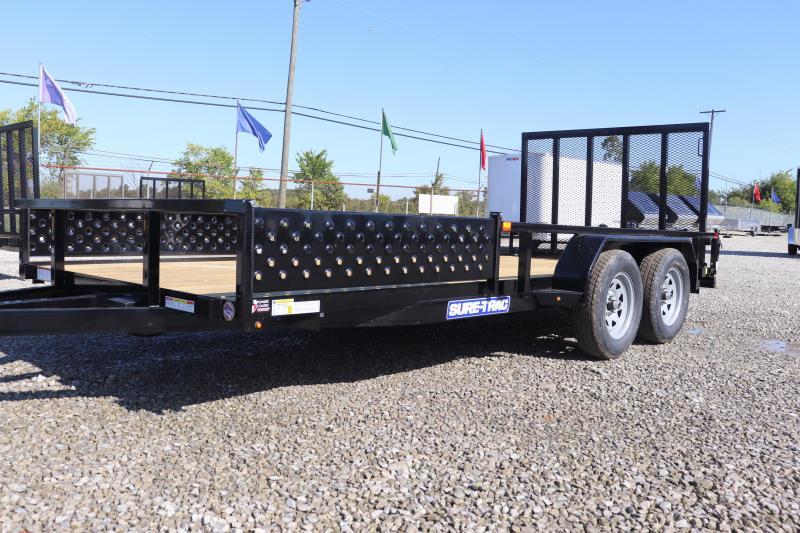 2020 Sure-Trac 7x16 Tube Top ATV Utility Trailer