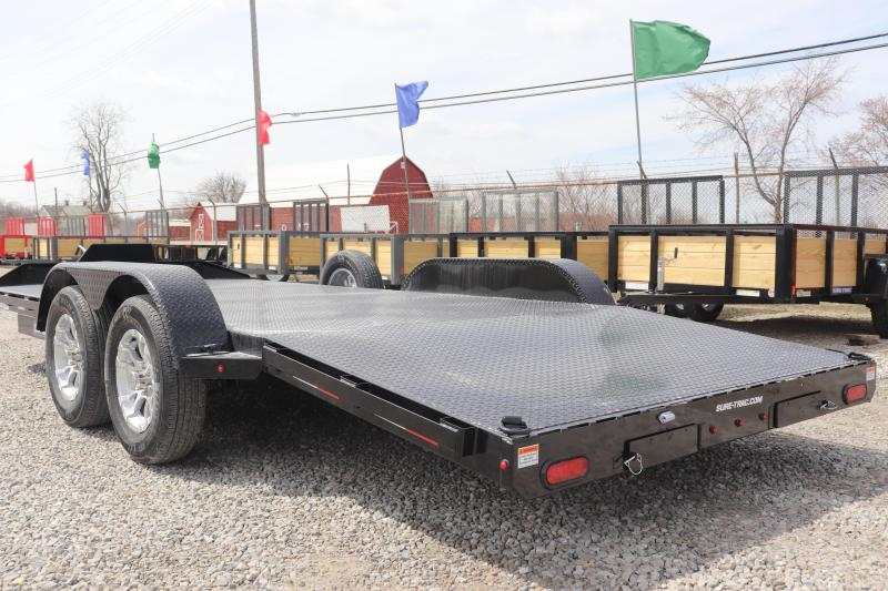 2019 Sure-Trac 7x18 7K Steel Deck Car Hauler Trailer