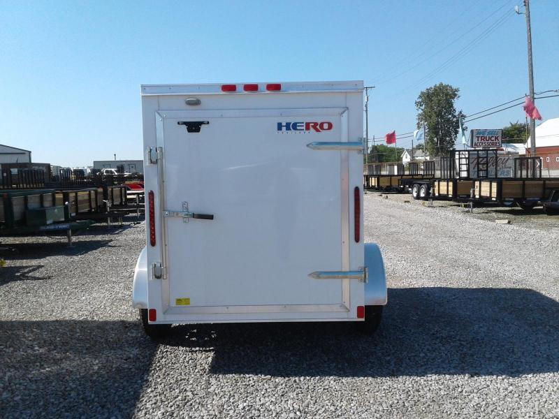 2019 Bravo Trailers 5x8 Hero w/ Single Rear Door Enclosed Cargo Trailer
