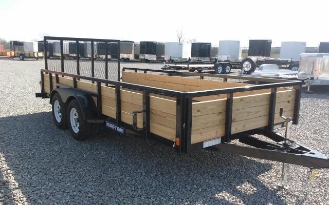 2018 Sure-Trac 7x16 7K 3-Board Utility Trailer