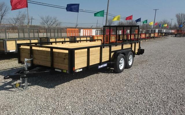 2018 Sure-Trac 7x16 Tandem Axle 3-Board Utility Trailer 7K