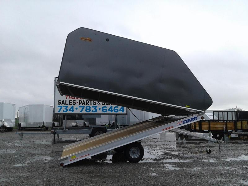 "2019 Pro Starr 101""x12 Tilt 2 Place w/ Sled Shed Cap Snowmobile Trailer"