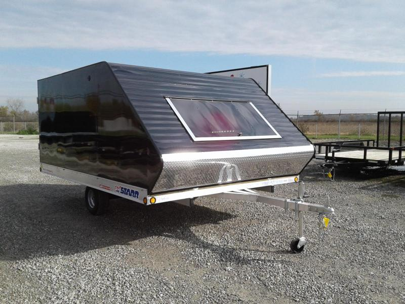 2019 ProStarr 101x12 Rear Ramp Hybrid Snowmobile Trailer