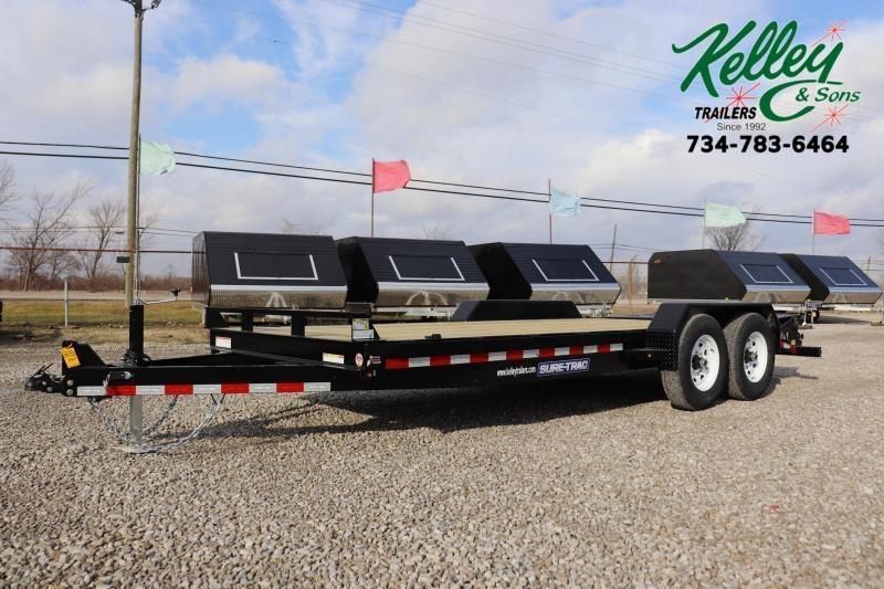 2019 Sure-Trac 7x15+3 14K Implement HD Universal Ramp Equipment Trailer