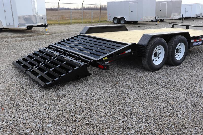 2019 Sure-Trac 7x15 + 3 14K Implement HD Universal Ramp Equipment Trailer