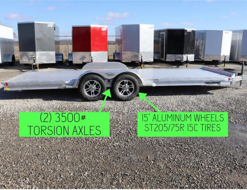 "2019 Hillsboro Industries 82""x20 Aluminum Car Hauler Car / Racing Trailer"
