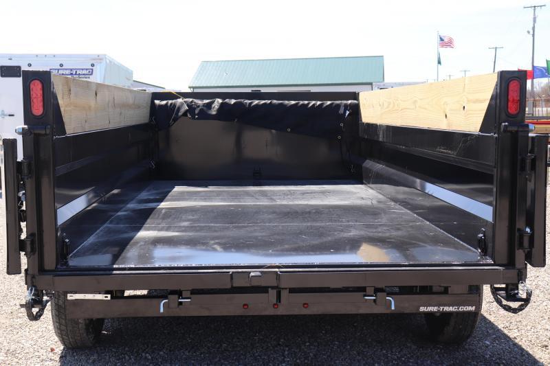 "2019 Sure-Trac 82""x14' 14K Low Pro Telescopic PRO Dump Trailer"