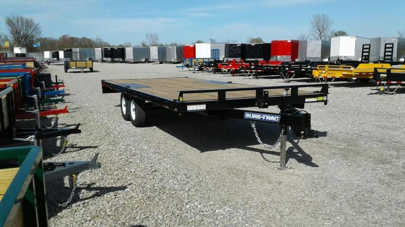 2018 Sure-Trac 8.5x20 Flat Deck Deckover 10k Equipment Trailer