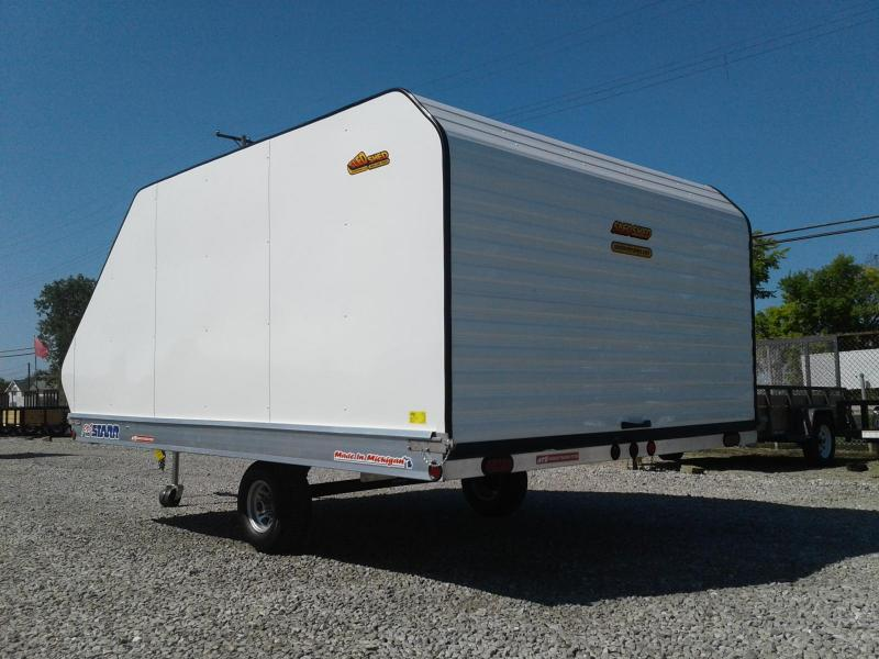 "2018 Pro Starr 101""x12 Tilt 2 Place w/ Sled Shed Cap Snowmobile Trailer"