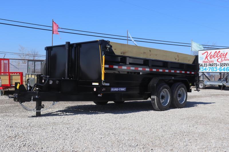 2019 Sure-Trac 82INX14 16K Low Pro Telescopic Dump