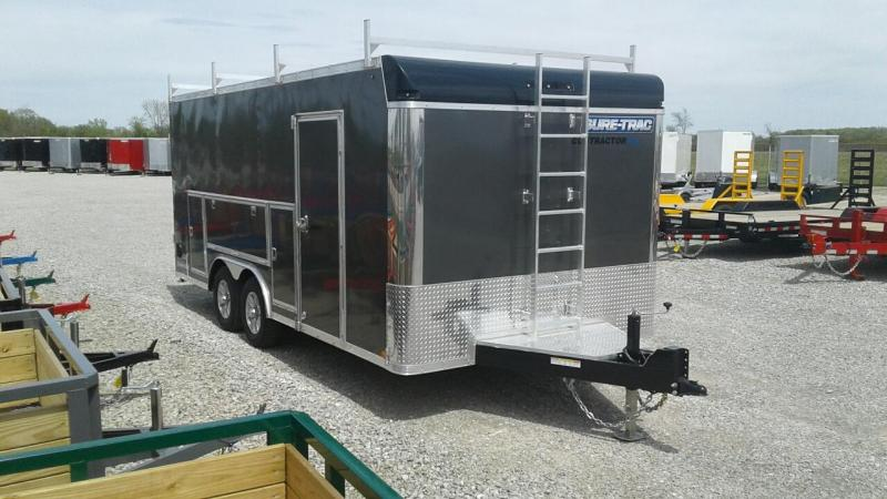 2019 Sure-Trac 8.5x18 10K Contractor Pro Enclosed Cargo Trailer