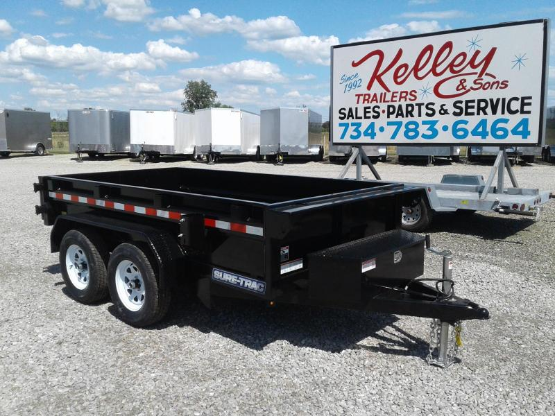 "2018 Sure-Trac 62""x10 7K Single Ram Dump Trailer"