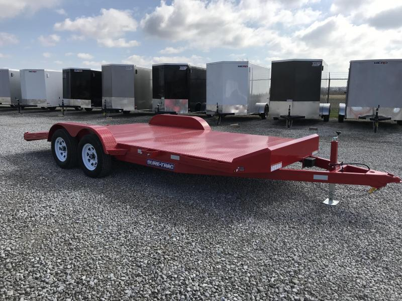 2018 Sure-Trac 7x18 7K Steel Deck Car Hauler