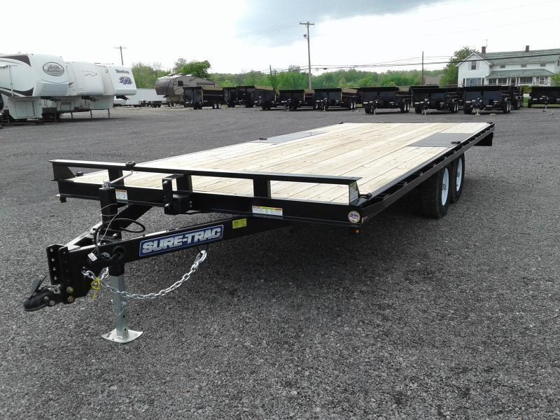 2019 Sure-Trac 8.5x20 10K Flat Deck Deckover Equipment Trailer