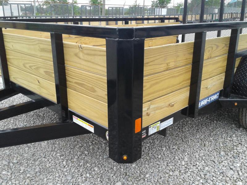 2019 Sure-Trac 7x12 Tandem Axle 3-Board Utility Trailer