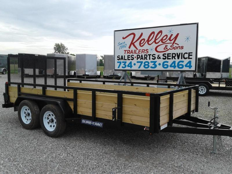 2019 Sure-Trac 7x14 7K 3-Board Tandem Axle Utility Trailer