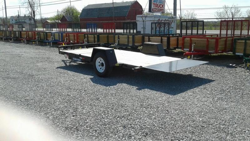 "2018 Sure-Trac 78""x12+4 Single Axle Tilt Bed Equipment Trailer 7.8K"