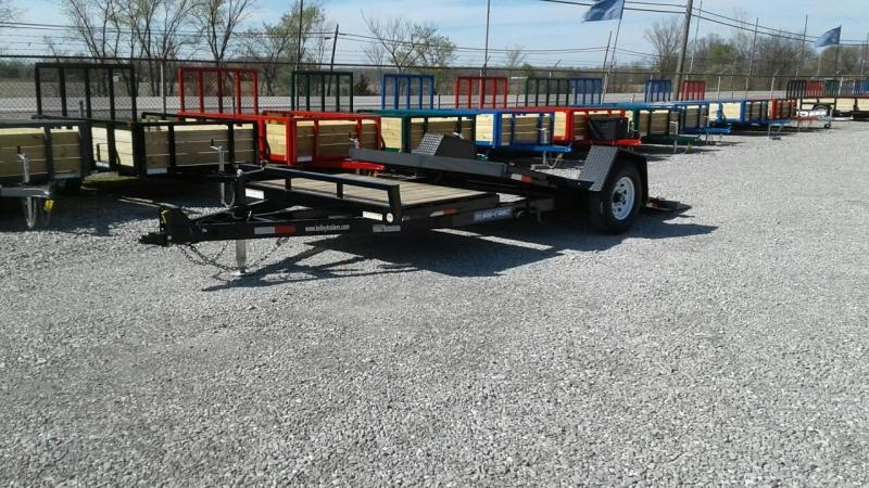 "2018 Sure-Trac 78""x12+4 Single Axle Tilt Bed Equipment Trailer 7.8K"
