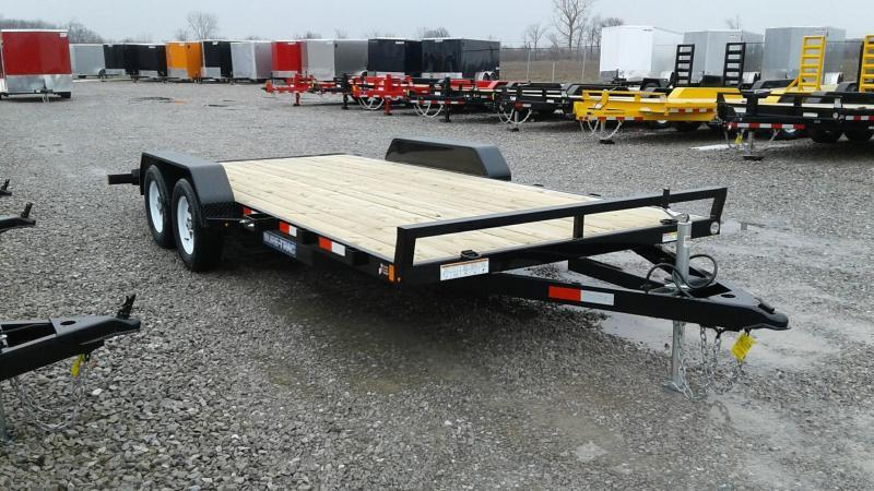 2019 Sure-Trac 7x18 7K Wood Deck Car Hauler