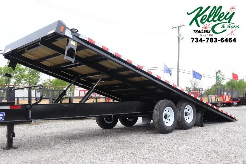 """2020 Sure-Trac 102""""x22 Deckover Tilt Flatbed Trailer"""