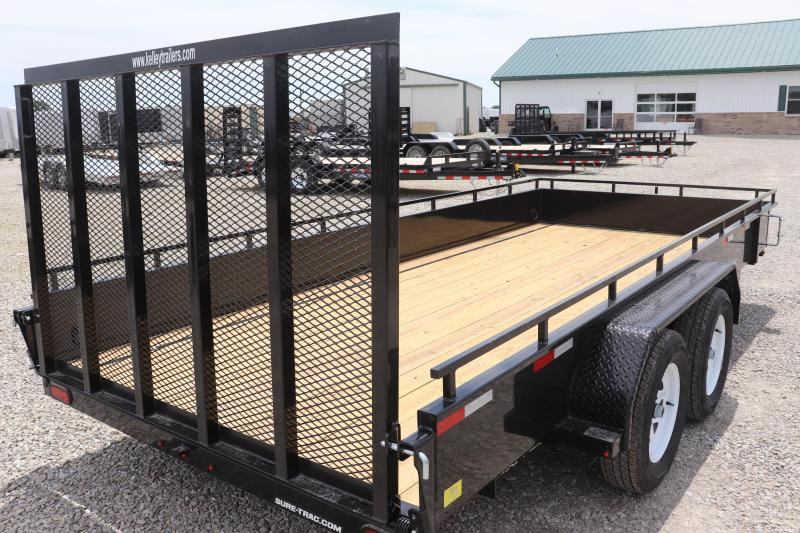 2020 Sure-Trac 7x16 7K Steel High Side Utility Trailer
