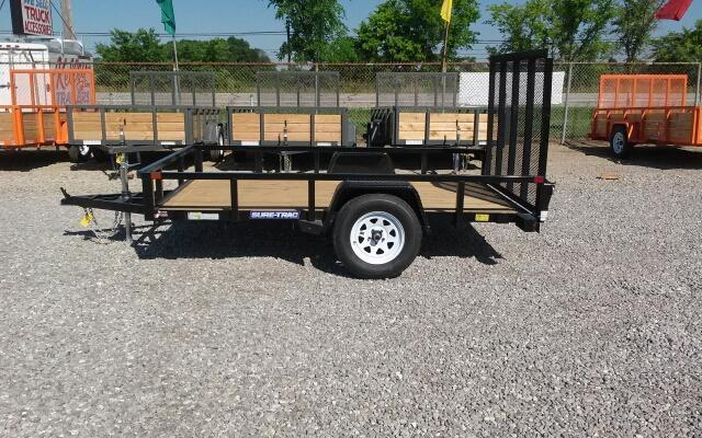 2019 Sure-Trac 7x12 Tube Top Utility Trailer