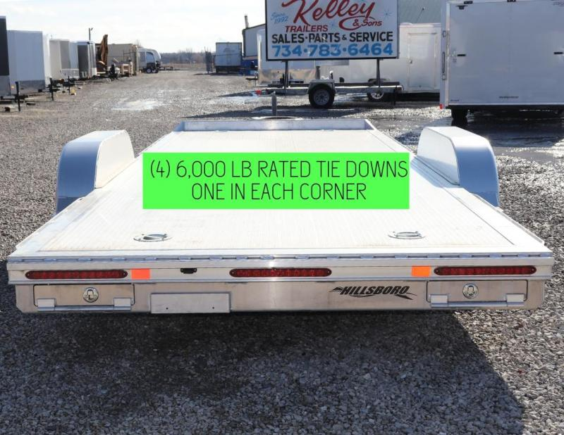 "2019 Hillsboro Industries 82""x18 Aluminum Car Hauler Car / Racing Trailer"