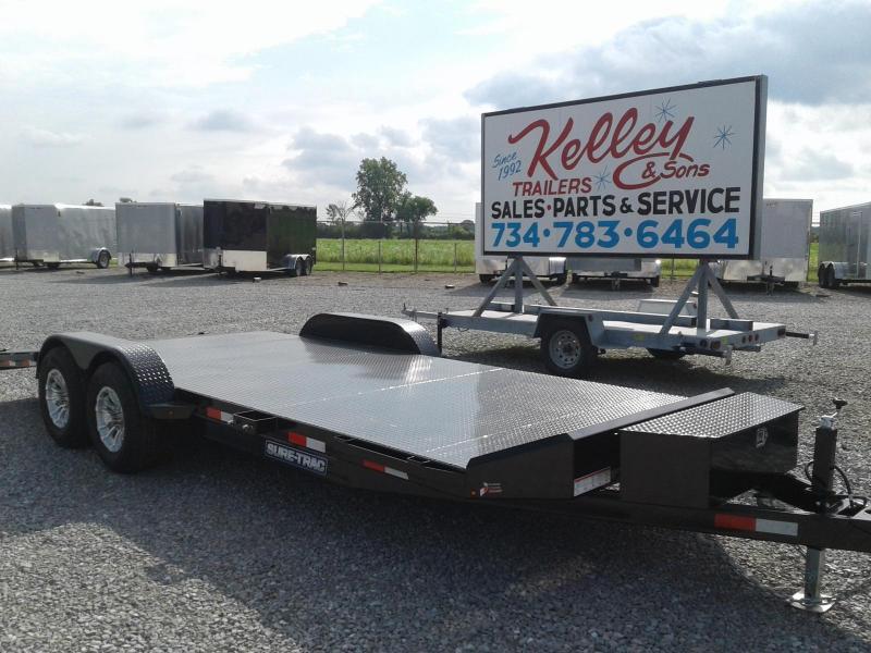 2018 Sure-Trac 20' 10K Steel Deck Car Hauler Trailer
