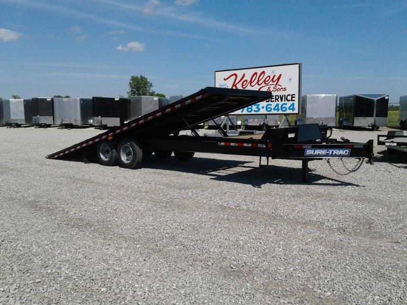 2018 Sure-Trac 102x22+4 17.6K Deckover Tilt Equipment Trailer