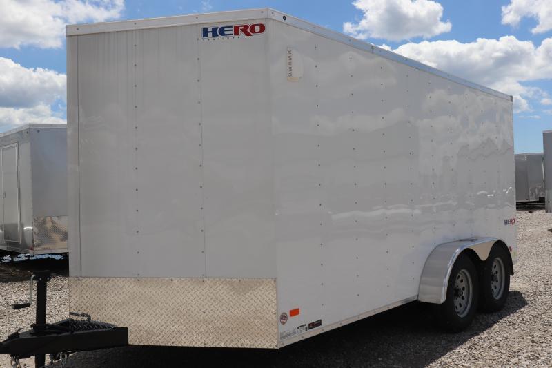 2020 Bravo Trailers 7x14 Hero w/ Ramp Door Enclosed Cargo Trailer