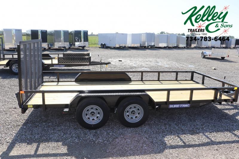 2020 Sure-Trac 7x16 7K Tube Top Utility Trailer