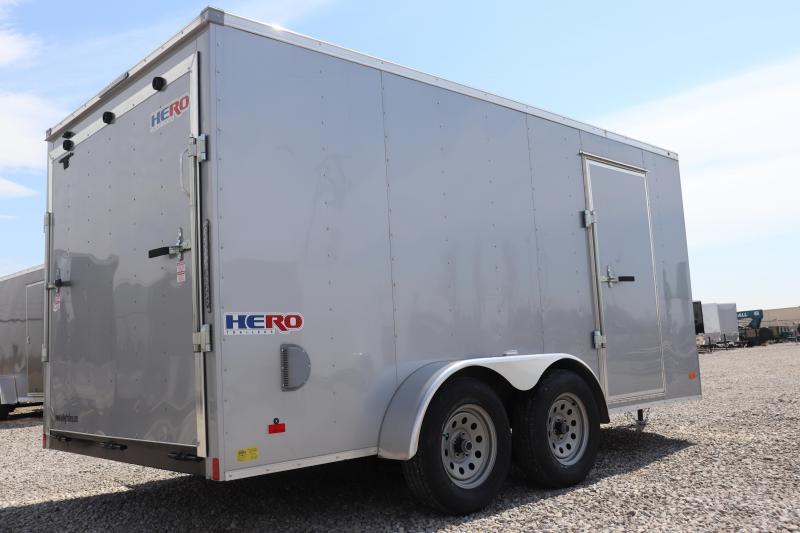 2019 Bravo Trailers 7x14 Hero w/ Ramp Door Enclosed Cargo Trailer