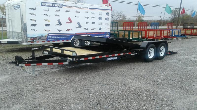 2018 Sure-Trac 7x18+4 14K Tilt Bed Equipment Trailer