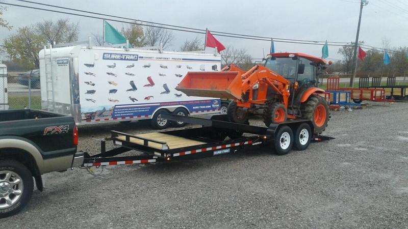 2019 Sure-Trac 7x18+4 14K Tilt Bed Equipment Trailer