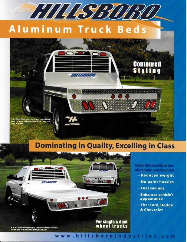 2018 Hillsboro Industries Series 2000 Aluminum Single Wheel Long Bed