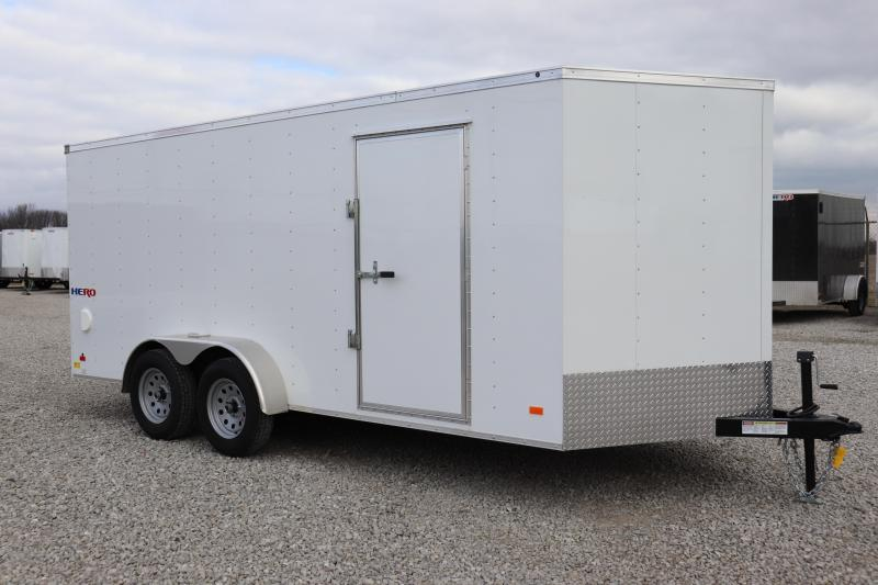 2019 Bravo Trailers 7x16 Hero w/ Ramp Door Enclosed Cargo Trailer