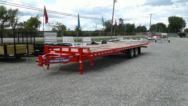 2018 Sure-Trac 22+8 17.6K Powertilt Equipment Trailer