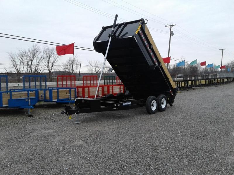 "2018 Sure-Trac 82""x14' 14K Telescopic Dump Trailer"