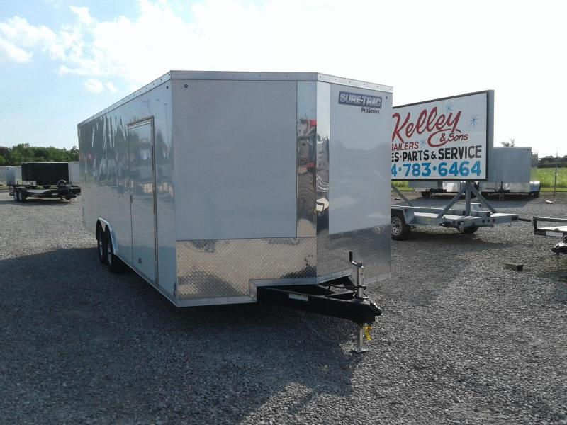 2018 Sure-Trac 8.5x24 10K Wedge Enclosed Car / Racing Trailer
