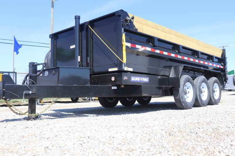 2019 Sure-Trac 82INx16 21K Low Pro Telescopic  Dump Trailer