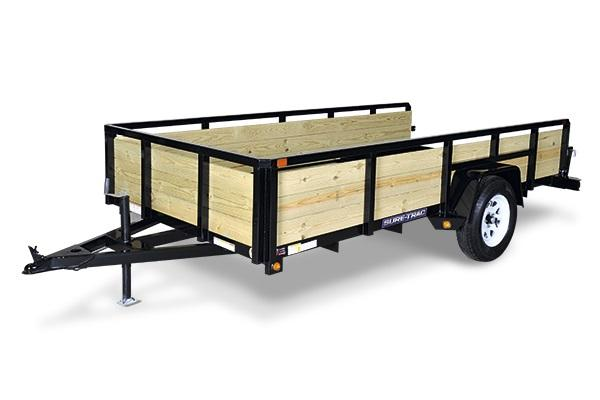 2019 Sure-Trac 6x12 Tube Top 3-Board Utility Trailer