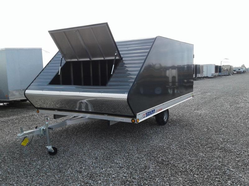 2019 ProStarr 101x12 Rear Ramp Hybrid Snowmobile Trailer