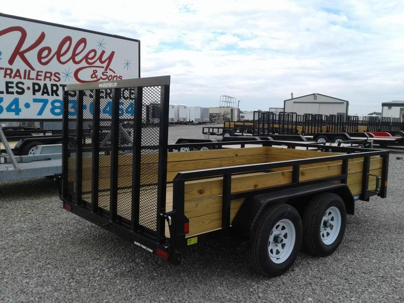 2018 Sure-Trac 7x12 Tandem Axle 3-Board Utility Trailer
