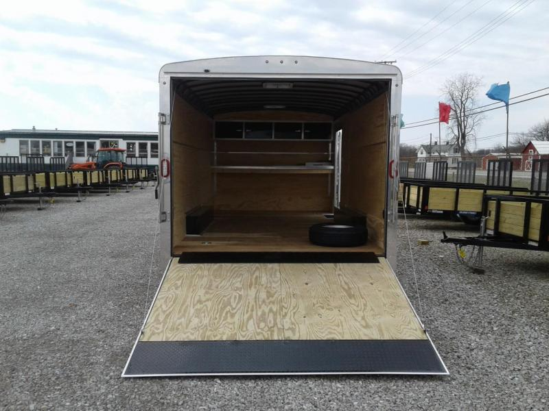 2018 18' 10K Sure-Trac Round Top Landscape Pro Enclosed Cargo Trailer